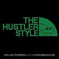 ハスラー 31・41系 ステッカー THE HUSTLER STYLE【カッティングシート】パロディ シール(12色から選べます) (グリーン)