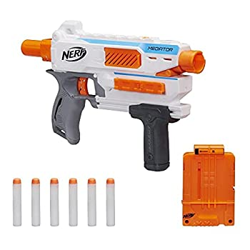 Nerf Modulus Mediator Blaster -- Fires 6 Darts in a Row Pump Action Slam Fire Includes 6-Dart Clip and 6 Official Nerf Elite Darts  Amazon Exclusive