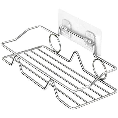ETBGYKOU Estante de acero inoxidable cuadrado de una sola capa de cocina y baño especial estante de almacenamiento no deja marcas