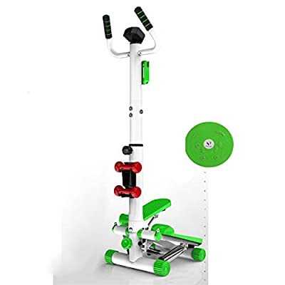 BDSHL Handrail Stepper Home Ladies Weight Loss Machine Mute Multi-Function Thin Waist Machine Stovepipe Climbing Machine Fitness Equipment (Color : Green, Size : +All Thing That give Away)