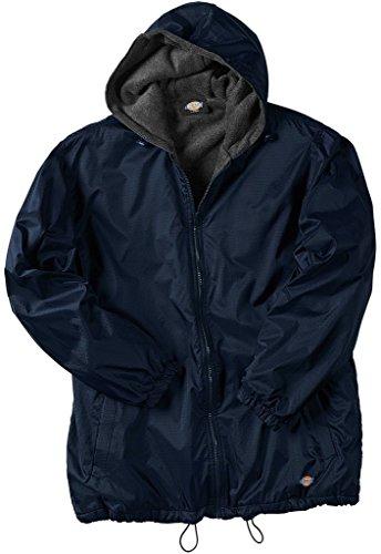 Dickies Big Men's Hooded Nylon Zip Jacket 3XL Navy #953