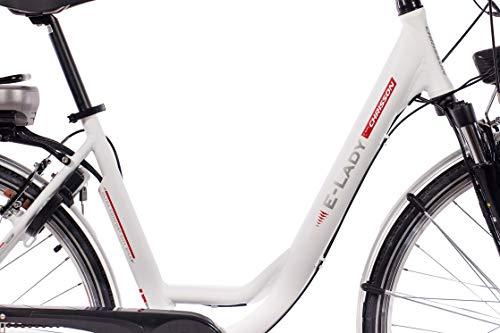 CHRISSON 28 Zoll E-Bike Trekking und City Bike für Damen – E-Lady Weiss mit 7 Gang Shimano Nexus Nabenschaltung – Pedelec Damen mit Bafang Vorderradmotor 250W, 36V Bild 2*