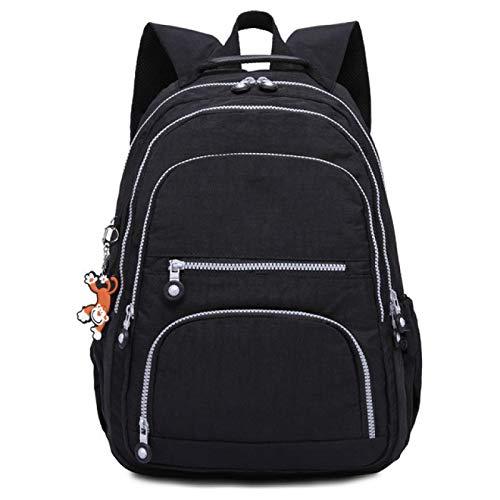 Mochila escolar para niños y niñas de gran capacidad para la escuela de los niños bolsa de viaje bolsa de los niños bolsas impermeable portátil mochila, Negro (Negro) - berglink-EWANGZ