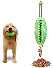 Allmart AD082804 Dog IQ Treat Ball/Interactive Food Dispensing Dog Toy/Dog Toothbrush, 3 in 1 Multifunction Dog Chew Toys (green)