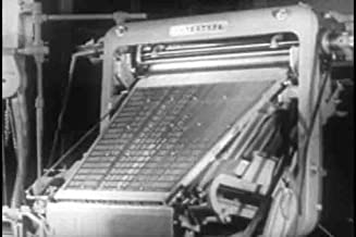 Classic Printing Press & Linotype Typesetting Films DVD: 1940s - 1960s Printing Industry History Pictures Films