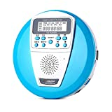 TMY Reproductor de CD portátil Aprendizaje Reproductor de CD Reproductor portátil de Audio Hogar Mini Disco para niños Walkman U Disco Mp3 Música prenatal Reproductores de CD Reproductor de música