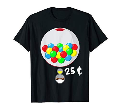 Einfache Halloween Kostüm Idee Kaugummi Maschine Paare T-Shirt