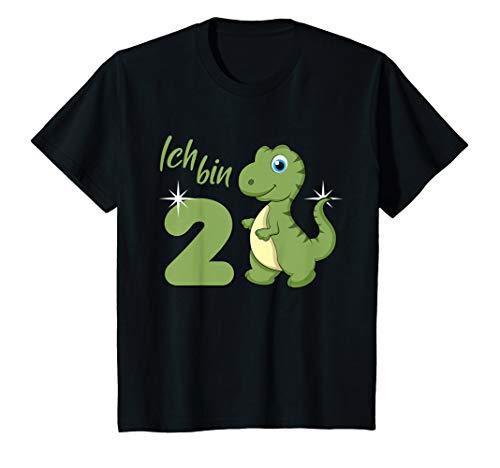 Kinder Ich bin schon 2 Jahre alt Dino 2. Geburtstag Dinosaurier T-Shirt