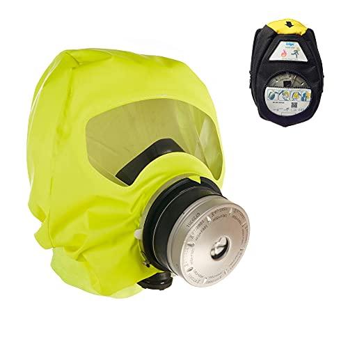 Dräger 5520 Parat Brand-Fluchthaube in Einer Nylon-Tasche | Effektive Rettungshaube zum Schutz vor Brandgasen, Kohlenmonoxid (CO)