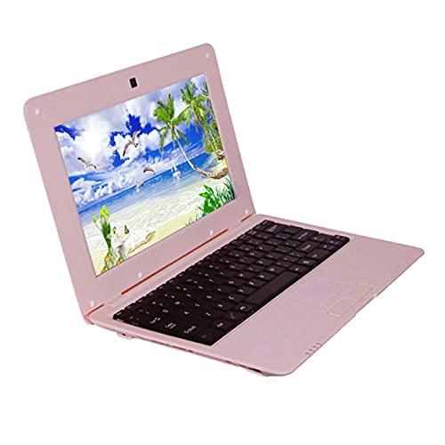 Gobutevphver Ordenador Netbook 10 Pulgadas Acciones Quad-Core 3000Mah Batería S500 Ordenador portátil Netbook Ordenador portátil 1 + 8G Portátil portátil - Rosa EU