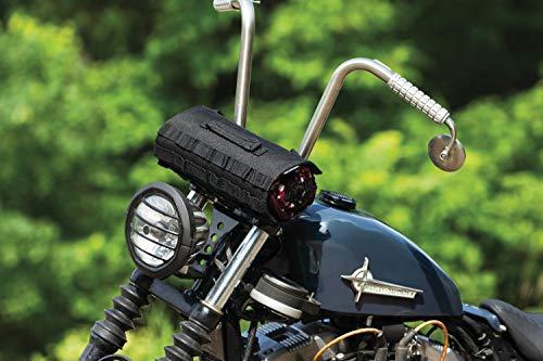 Kuryakyn 5224 Jacket Roll Bag Motorcycle Travel Luggage: Weather Resistant Storage Organizer for Handlebar or Sissy Bar Mounting, Black
