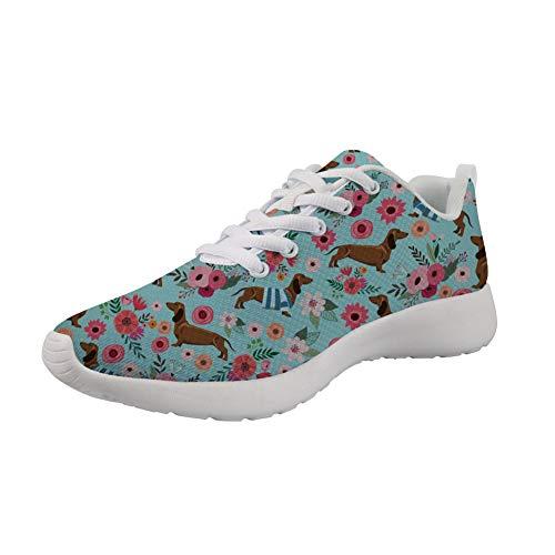 POLERO Zapatos Deportivos para Mujer, Zapatillas Planas con diseño de, Zapatillas de Tenis con Cordones de Malla, Zapatos para Correr Ligeros y Casuales,36-45 UE