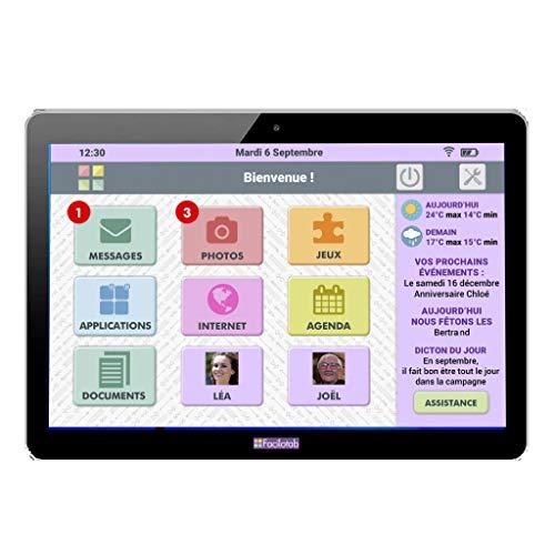 FACILOTAB Tablette L Rubis - WiFi - 16 Go - Android 8 -...
