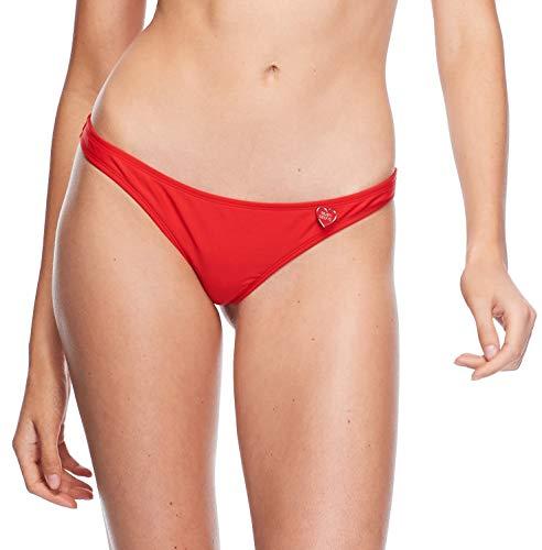 Body Glove Damen Thong Solid Minimal Coverage Bikini Bottom Swimsuit Bikinihose, Smoothie True Red, Medium