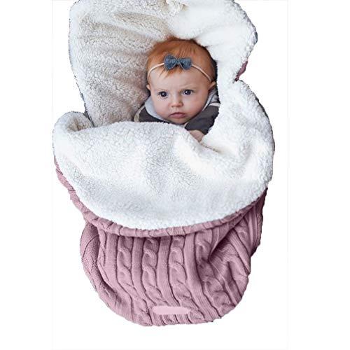 KJOLG Schlafsack Baby Winter,Soft and Healthy Imitation Cashmere Cotton,Warm Bleiben Babyschlafsack,C