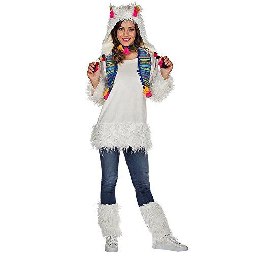 Rubie's Damen Kostüm Alpaka Lima Weiß Lama Tier Peru Fasching Karneval (34)