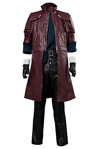 Karnestore Devil May Cry V DMC5 Dante Aged Outfit Lederjacke Mantel Cosplay Kostüm Herren XXXL
