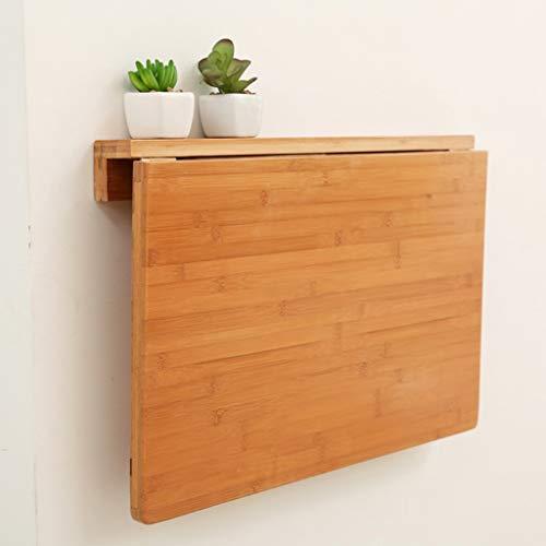 XU FENG Natürlicher Bambus Wand-Klapptisch, klappbarer Küchen- und Esstisch, Laptop-Schreibtisch, platzsparender Hängetisch (Size : 60 * 40cm)
