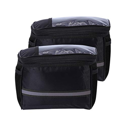 #N/a 2Pack Bike Handlebar Bag Bolsa de Almacenamiento Frontal Outdoor Cycling Travel Waterproof