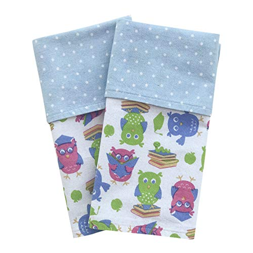 100/% Soft Cotton Set of 2 Dinosaurs Thick 2-ply FUN KINS Funkins Reusable Cloth Napkins for Kids Absorbent 12x12 Blue