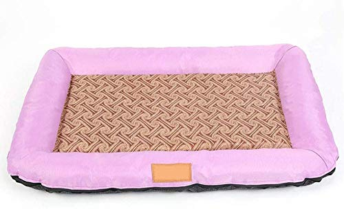 Pet Bed Home Kennel Cat Litter Summer Pet Mat Washable Cat Bed Small Medium Dog-Purple_S 60*40*7cm