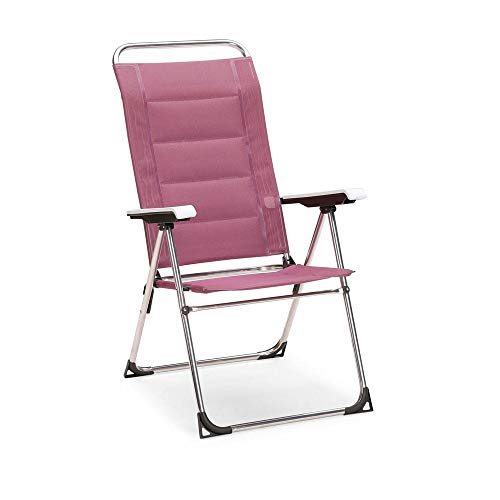 Best Klappsessel Young Collection Sillón Plegable, Silla de Camping y jardín, Aluminio, Morado