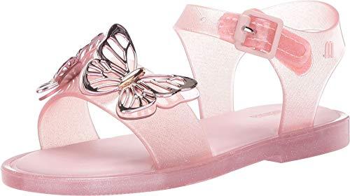 mini melissa Girl's Mar Sandal Fly BB (Toddler/Little Kid) Baby Pink 9 Toddler M