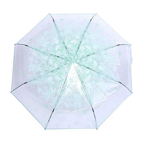 DOACT Paraguas Claro para niñas Paraguas Plegable Transparente Paraguas de Princesa de...