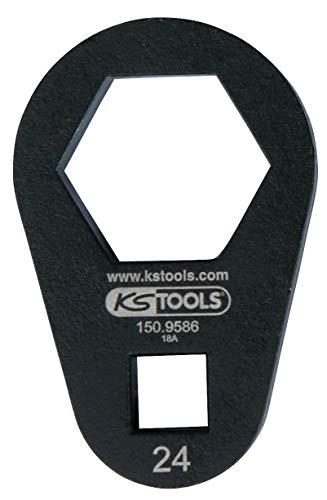 "KS Tools 150.9586 3/8"" Einsteck-Ringschlüssel, extra flach, 24 mm"