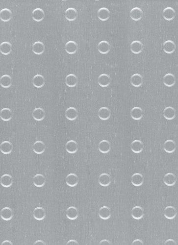 GAH-ALBERTS 466435 - Estructura de chapa - Círculo estampado, aluminio, color plata anodizado, 240 X 480 Mm X 1
