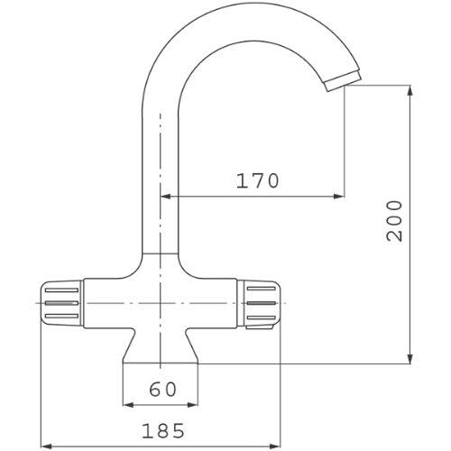 Ferro – Waschbecken-Thermostatarmatur, Verbrühschutz, Spararmatur mit EcoTaste, Chrom, Serie Nova - 3