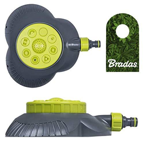 Bradas 8-Funktions Rasensprenger Regner Sprinkler Lime LINE LE-6202 4420