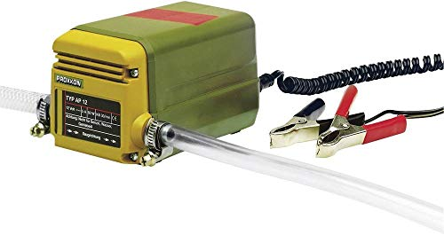Proxxon AP 12 Ölabsaugpumpe, selbstansaugende Ölpumpe für Motorenöl, Diesel, Heizöl, inkl. Saug- und Ablassschlauch, 25262