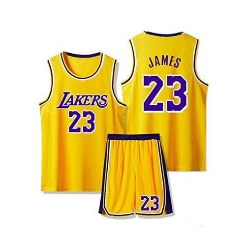 Basketball Trikots für Herren Lebron James 23# 6# Los Angeles Lakers Miami Heat Cleveland Cavaliers Jersey Shorts für Herren Weiß Schwarz Rot Gelb Lila Schnell trocknend Gr. M, Gelb/23#Lakers