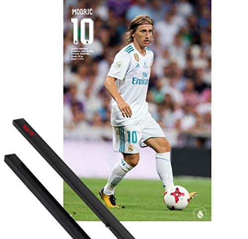 1art1 Fútbol Póster (91x61 cm) Real Madrid, Luka Modric Action 2017/18 Y...