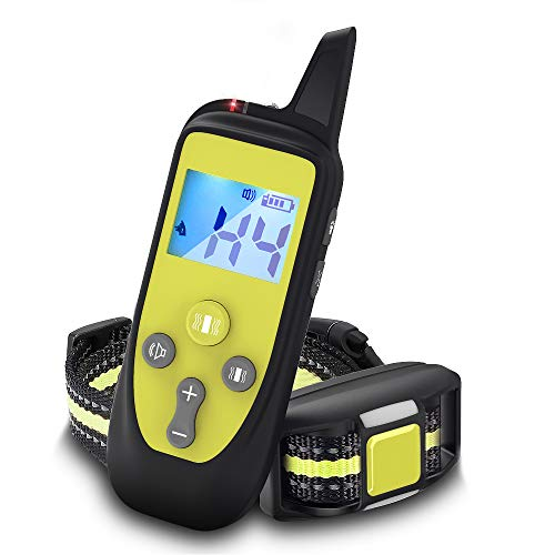 Wizco Remote Control Barking Training Collar with Safety Lock & Flashing Light, USB Rechargeable,...