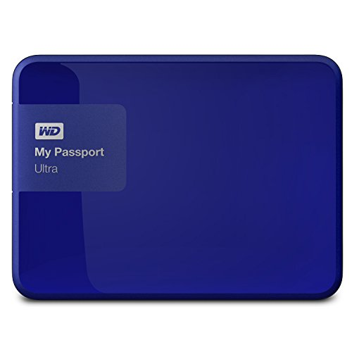 Western Digital 1TB  My Passport Ultra USB 3.0 Secure Portable External Hard Drive, Blue (WDBGPU0010BBL-NESN) [Old Model]