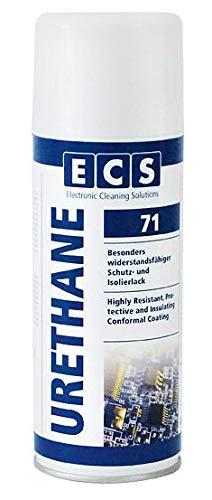 ECS Cleaning Solutions 71 URETHANE Polyurethan hochwertiger Einkomponenten Schutzlack Isolierlack 400 ml Spraydose