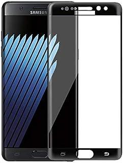 واقي شاشة زجاجي شفاف لسامسونج جالكسي نوت 7 - أسود