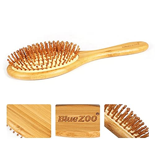 PPuujia Cepillo de champú Cojín Cepillo de Pelo Bambú Airbag Enredo Peine Desenredar Anti-encrespamiento Hairbush Masaje Cabeza Cuero Cabelludo Relajar Promover la circulación de la sangre