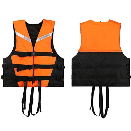 FR&RF Chaleco de ayuda ajustable para adultos, para kayak, flotabilidad, pesca, barco, acuático, colorido, a la deriva, unisex, naranja, XXXL