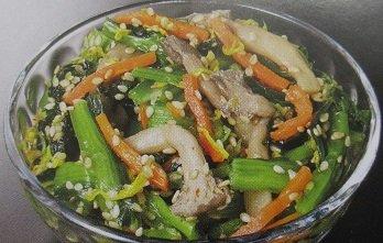 小松菜菊胡麻和え 1kg 冷凍 精進料理 秋 こまつな ごまあえ