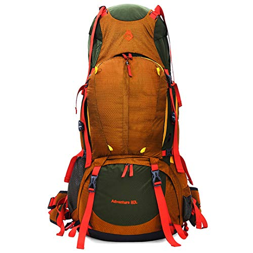 HY&Oudorts Outdoor Professional Mountaineering Bag Large Capacity Heavy Package Outdoor Camping Hiking Backpack, Men, Yellow Color, Other