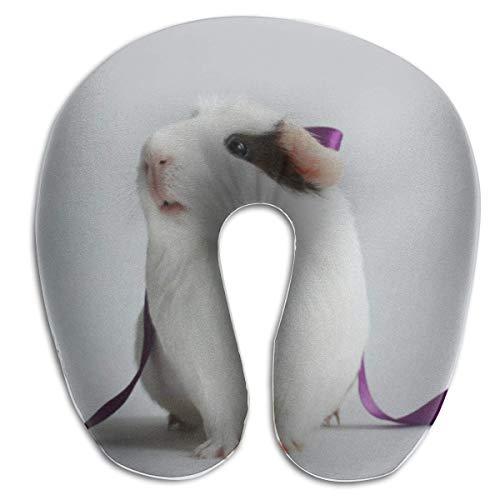 Hámster y Bufandas Almohada para el Cuello en Forma de U Cómoda Almohada de Viaje de Microfibra Suave para el Cuello para el hogar, Dolor de Cuello