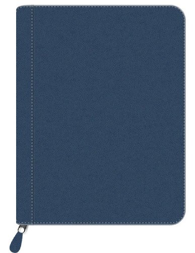 Pierre Belvedere Executive A4/Letter-Size Zip Portfolio, Refillable, Navy (578810)