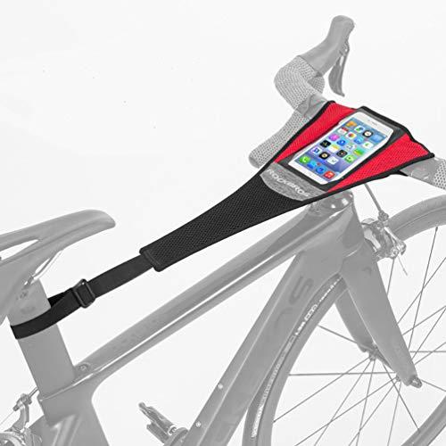"""ROCKBROS Cubierta de Sudor para Entrenamiento de Bicicleta Impermeable Elástica Absorber el Sudor para Rodillos Ciclismo Dos Tipos Adecuada para Telefonos Móviles 6.0"""" Negro Rojo"""