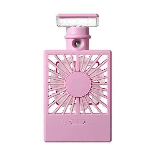 Dyyicun12 Cooler Ventilator, Parfum Fles Mini Zomer LED Airco Koeler Spray Mist USB Koeling Ventilator