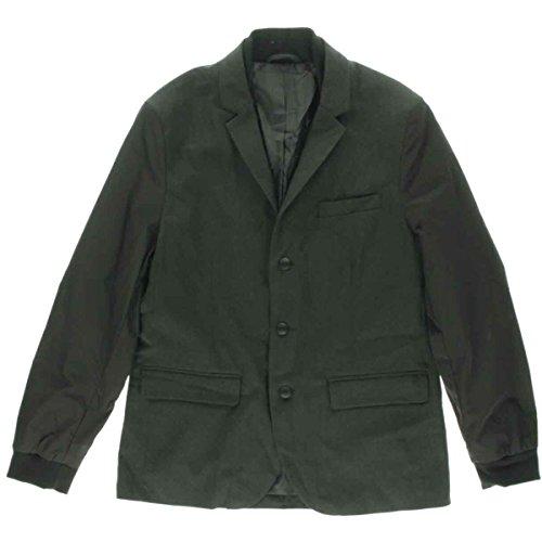 Kenneth Cole Reaction Mens Notch Collar Long Sleeves Basic Jacket Black XL