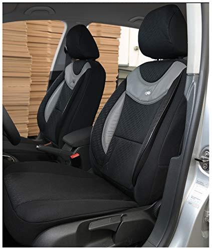Maß Sitzbezüge kompatibel mit Seat Ibiza III 6L Fahrer & Beifahrer ab 2002-2008 Farbnummer: G101