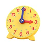 unbrand Aprende Las Horas Reloj Escolar Reloj con Las Horas 10CM